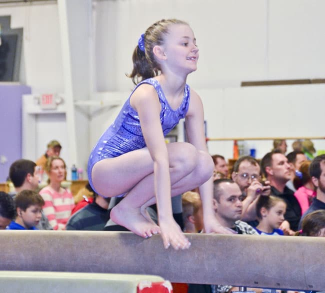 Kayla on Beam
