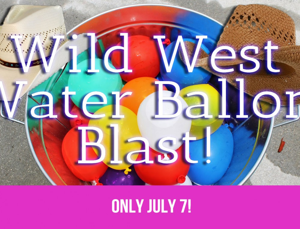 Wild West Water Balloon Blast Fliptastic Friday Camp. July 7 only!
