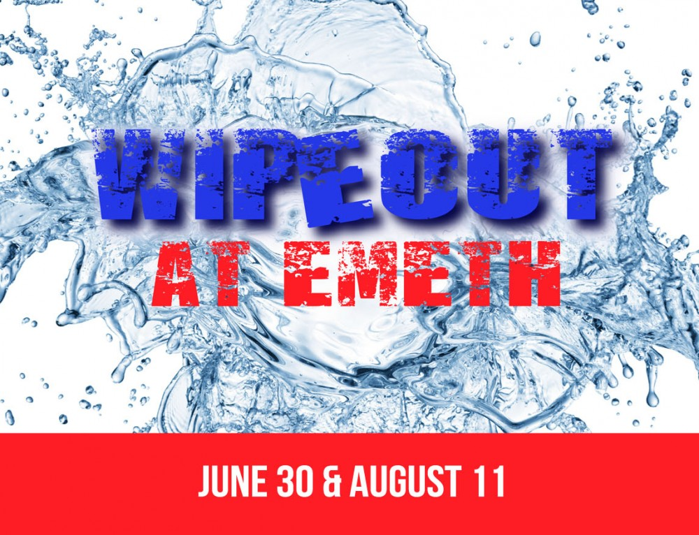 Wipeout at Fliptastic Friday Camp! June 30 & August 11