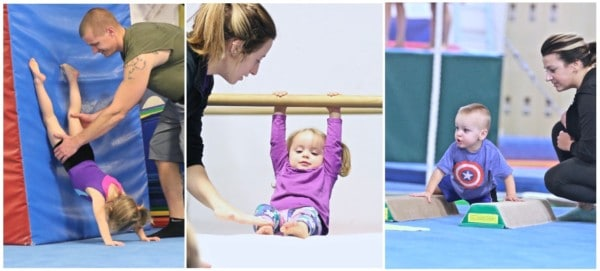 toddlers being instructed in gymnastics at emeth gymnastics in geauga county ohio