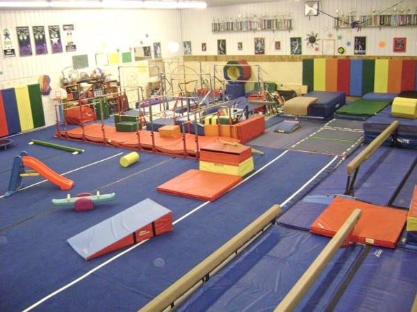 the interior practice area at chery's gymnastics in geauga county ohio