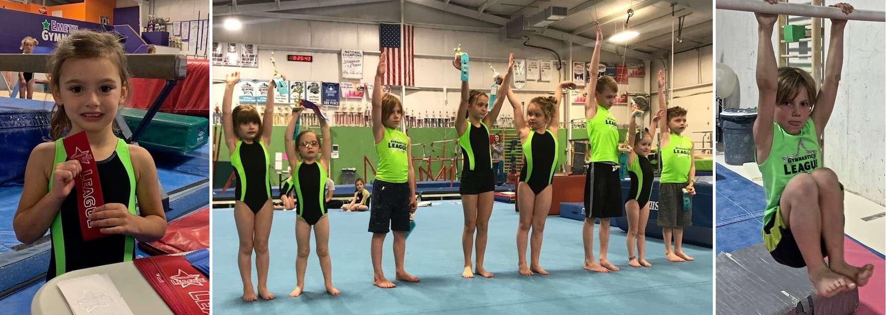 gymnastics league competitors