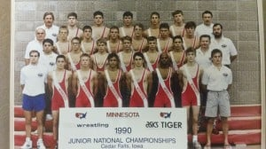 Jim and his wrestling team