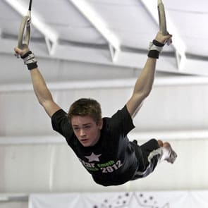 boy on rings