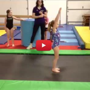 back handspring video